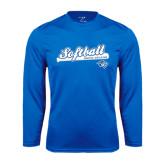 Performance Royal Longsleeve Shirt-Softball Script