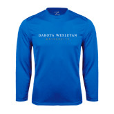 Performance Royal Longsleeve Shirt-University Logotype Stacked