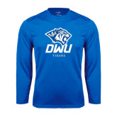 Performance Royal Longsleeve Shirt-DWU Tigers w/ Tiger Head