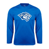 Performance Royal Longsleeve Shirt-Tiger Head