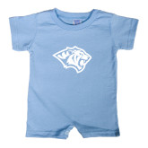 Light Blue Infant Romper-Tiger Head