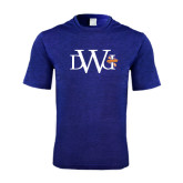 Performance Royal Heather Contender Tee-University Mark