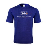 Performance Royal Heather Contender Tee-University Combination Mark Stacked