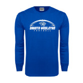 Royal Long Sleeve T Shirt-Dakota Wesleyan Football Horizontal