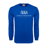Royal Long Sleeve T Shirt-University Combination Mark Stacked