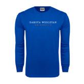 Royal Long Sleeve T Shirt-University Logotype Stacked