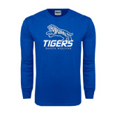 Royal Long Sleeve T Shirt-Tigers w/ Full Tiger