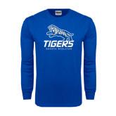 Royal Long Sleeve T Shirt-Tigers w/ Full Tiger