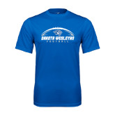 Performance Royal Tee-Dakota Wesleyan Football Horizontal