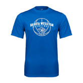 Performance Royal Tee-Basketball Arched w/ Ball