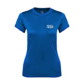 Ladies Syntrel Performance Royal Tee-University Mark