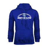 Royal Fleece Hoodie-Dakota Wesleyan Football Horizontal
