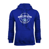 Royal Fleece Hoodie-Basketball Arched w/ Ball