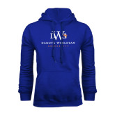 Royal Fleece Hoodie-University Combination Mark Stacked