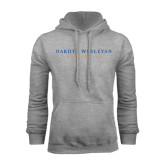 Grey Fleece Hoodie-University Logotype Stacked
