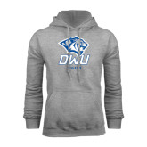 Grey Fleece Hoodie-DWU Tigers w/ Tiger Head