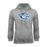 Grey Fleece Hoodie-Tiger Head