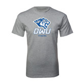 Grey T Shirt-DWU Tigers w/ Tiger Head