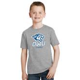 Youth Grey T-Shirt-DWU Tigers w/ Tiger Head