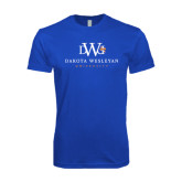 Next Level SoftStyle Royal T Shirt-University Combination Mark Stacked