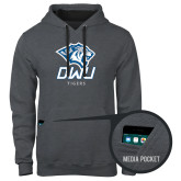 Contemporary Sofspun Charcoal Heather Hoodie-DWU Tigers w/ Tiger Head