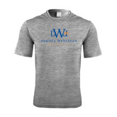 Performance Grey Heather Contender Tee-University Combination Mark Stacked