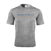 Performance Grey Heather Contender Tee-University Logotype Stacked