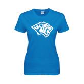 Ladies Sapphire T Shirt-Tiger Head