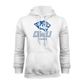 White Fleece Hoodie-DWU Tigers w/ Tiger Head