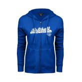 ENZA Ladies Royal Fleece Full Zip Hoodie-Softball Script