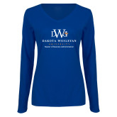 Ladies Royal Long Sleeve V Neck Tee-Master Of Business