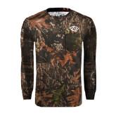 Realtree Camo Long Sleeve T Shirt w/Pocket-Tiger Head