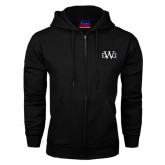 Black Fleece Full Zip Hoodie-University Mark