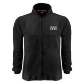 Fleece Full Zip Black Jacket-University Mark