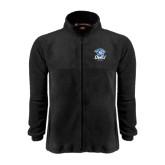 Fleece Full Zip Black Jacket-DWU Tigers w/ Tiger Head