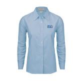 Ladies Light Blue Oxford Shirt-University Mark