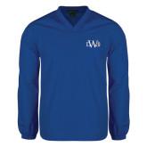 V Neck Royal Raglan Windshirt-University Mark