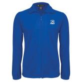 Fleece Full Zip Royal Jacket-DWU Tigers w/ Tiger Head