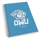 Clear 7 x 10 Spiral Journal Notebook-DWU Tigers w/ Tiger Head