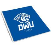 College Spiral Notebook w/Clear Coil-DWU Tigers w/ Tiger Head