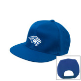 Royal Flat Bill Snapback Hat-Tiger Head