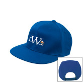 Royal Flat Bill Snapback Hat-University Mark