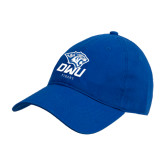 Royal Twill Unstructured Low Profile Hat-DWU Tigers w/ Tiger Head