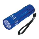 Industrial Triple LED Blue Flashlight-University Logotype Stacked Engraved