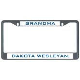 Metal License Plate Frame in Black-Grandma