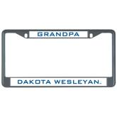 Metal License Plate Frame in Black-Grandpa