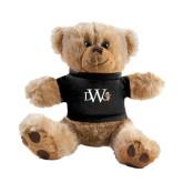 Plush Big Paw 8 1/2 inch Brown Bear w/Black Shirt-University Mark