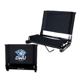 Stadium Chair Black-DWU Tigers w/ Tiger Head