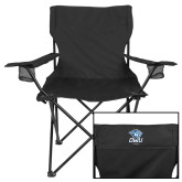Deluxe Black Captains Chair-DWU Tigers w/ Tiger Head