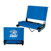 Stadium Chair Royal-DWU Tigers w/ Tiger Head